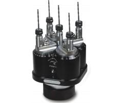 Сверлильная головка для сверления в металле на пять шпинделей с регулировкой расстояния между шпинделями от 41 до 113 мм