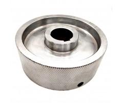 Ролик подающий металлический для четырехстороннего станка 140x35x50 мм крепление под шпонку