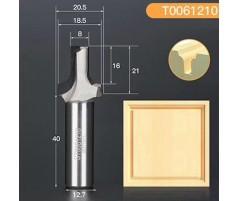 Профильная алмазная концевая фреза D20.5 h21 d12.7(12)