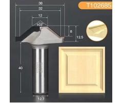 Профильная алмазная концевая фреза D38 h12.5 d12.7(12)