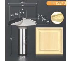 Профильная алмазная концевая фреза D39.21 h10.3 d12.7(12)