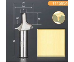 Профильная алмазная концевая фреза D26 h20 d12.7(12)