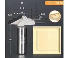 Профильная алмазная концевая фреза D38 h12 d12.7(12)