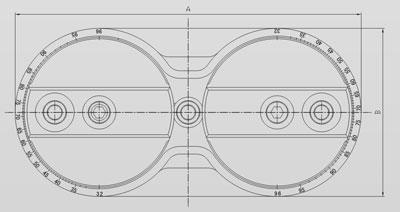 Сверлильная голова на три шпинделя с регулировкой