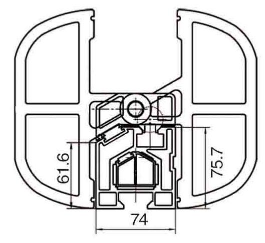 схема линейки форматно-раскроечного станка в комплекте с откидными упорами