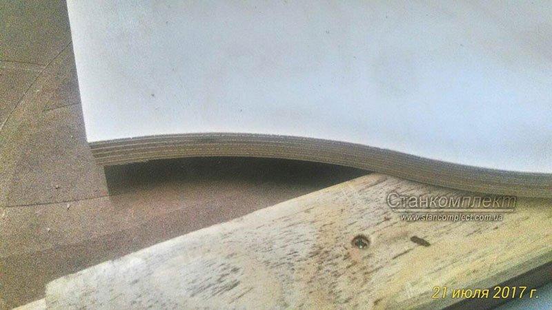 пример резки фанеры фрезой с диаметром 10 мм